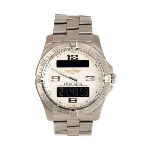 Breitling Hombre XL Aerospace–Reloj de Pulsera analógico–Digital Cuarzo Titan e7936210/G606/130E