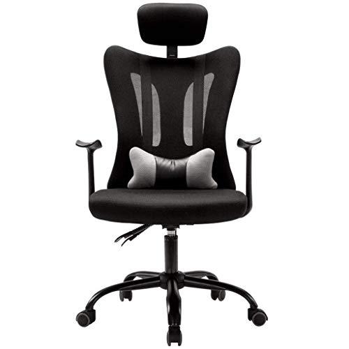 N/Z Équipement Quotidien Chaises Canapés Chaise d'ordinateur inclinable Fauteuil de Bureau Pivotant Chaise Longue à la Maison Fauteuil d'étude Balcon Chaise Longue Noir 64cm * 64cm * 120cm