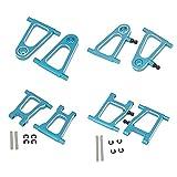 Kaxofang Juego de Brazos Oscilantes de SuspensióN Delantera y Trasera de Metal de 8 Piezas para TT-01 TT01 TT-01E TT01E 1/10 RC Car Upgrade Parts