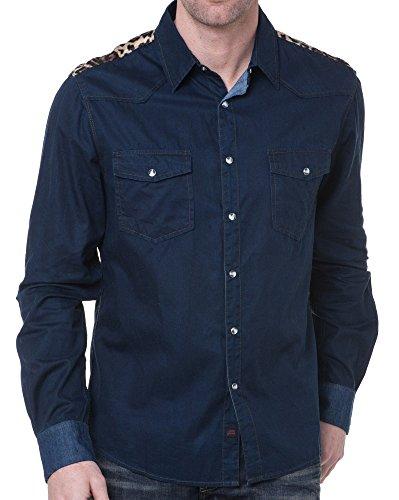 Sixth June - Mann im Jeans-Shirt-Design - Color: Blau, Size: XS