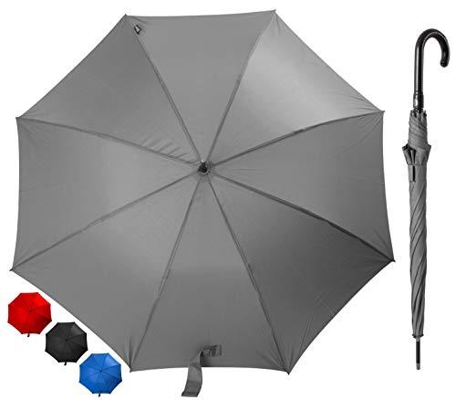 Dames paraplu elegante paraplu Lady – automatische handopening klassieke handgreep in lederlook scherm is winddicht en licht