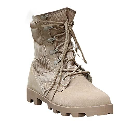Botas tácticas de invierno Hombres Transpirable Camuflaje ejército Desierto Zapatos Militar Botas de Combate, Amarillo, 38 EU