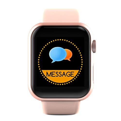 Wsaman Reloj Deportivo 1.3' Pantalla Táctil Completa,Reloj de Pulsera Deportivo con Bluetooth, con Pulsómetro Sueño Podómetro, para Hombre Mujer, Rastreador de Ejercicios,Rosado