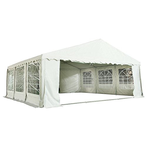 Tangkula 20'X20' PVC Tent Party Wedding Outdoor Heavy Duty Shelter Tent (White)