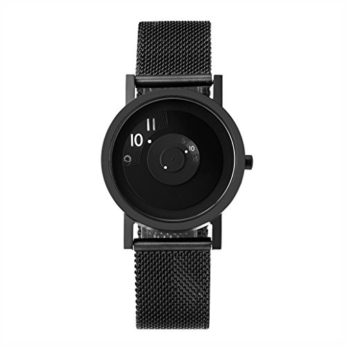 Project Watches 33mm Reveal Classic Watch, Black, Stainless Steel Mesh Band