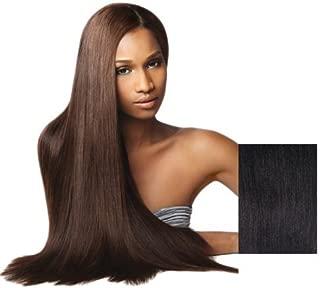 Goddess Select Remi Human Hair Weave - Yaki Weaving (12 inch, S1B/30 - Off Black/Medium Auburn)