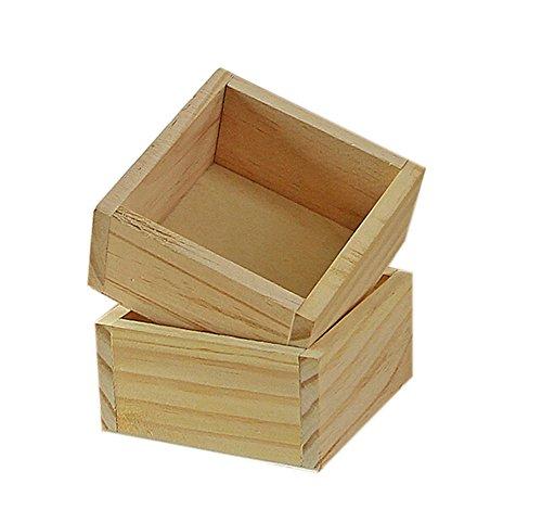 Skyeye Caja De Madera Caja De Uso Doméstico Multifuncional Jardinería Maceta Suculenta Caja De Madera Caja De Madera Cuadrada