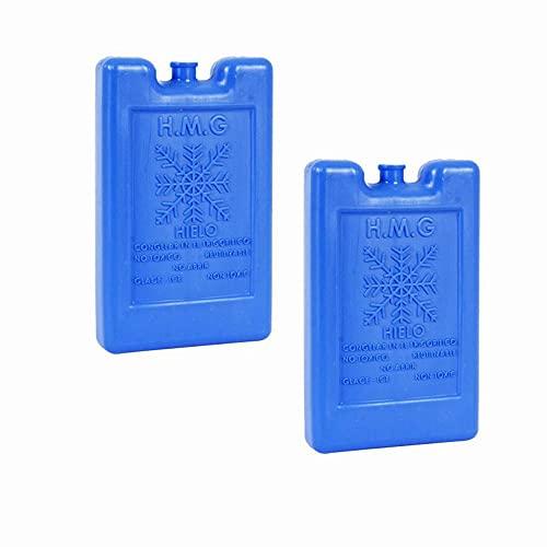 2PCS Acumulador Frio acumuladores de frío con 1000cc Cada uno Placas Hielo Nevera portátil (1000CC)