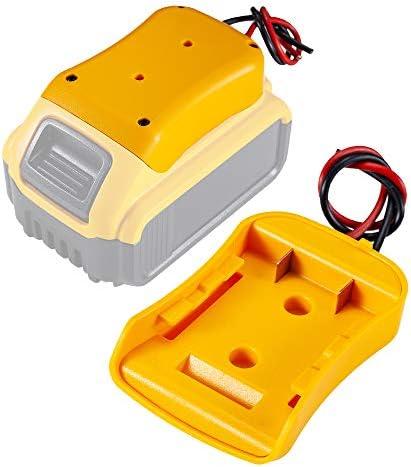 Anztek Battery Adapter for Dewalt 20V Battery 18V Dock Power Connector 12 Gauge Robotics product image