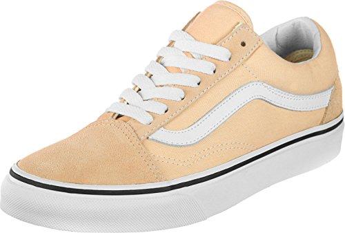 Vans Mädchen Old Skool Sneaker, Bleached Apricot True WHI, 36.5 EU