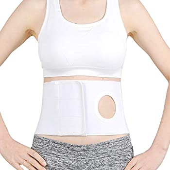 Medical Ostomy Belt Ostomy Hernia Support Belt Abdominal Binder Brace Abdomen Band Stoma Support for Colostomy Patients to Prevent Parastomal Hernia Stoma Opening- Men Or Women- Size L
