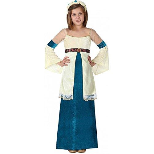 Atosa-15874 Disfraz Dama Medieval, color azul, 7 a 9 años (15874)
