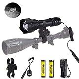 IR 850NM Lente de 38 mm Luz infrarroja Iluminador de visión nocturna de largo alcance Linterna...