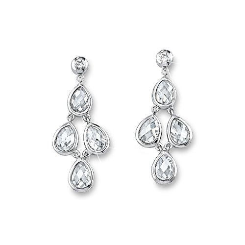 s.Oliver Jewel Damen-Ohrhänger 925 Silber rhodiniert Zirkonia weiß - 507462