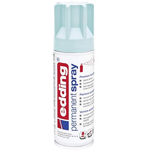 edding 5200 Permanent-Spray - pastell-blau matt - 200 ml - Acryllack zum Lackieren und Dekorieren von Glas, Metall, Holz, Keramik, lackierb. Kunststoff, Leinwand, u. v. m. - Sprühfarbe