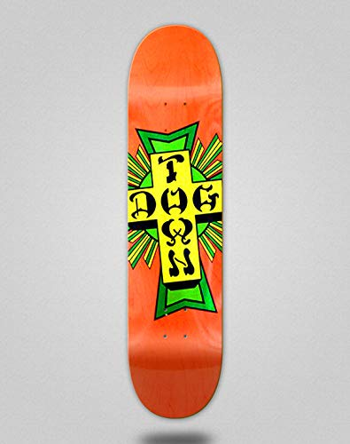 lordofbrands Skate Skateboard Dogtown Street Cross Logo Deck 8.5x32.45 Orange Green