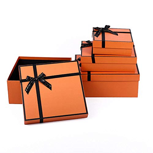 Jewellery Gift Box - Gift Boxes with Foam Insert - Presentation Box with Bow and Ribbon Design for Necklace, Ring, Stud, Bracelet and Earring-1