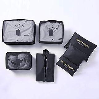 Haokaini 7Pcs Sacs de Rangement de Voyage Cubes d'emballage Sacs Organisateur de Bagages de Voyage pour Pique-Nique de Voyage