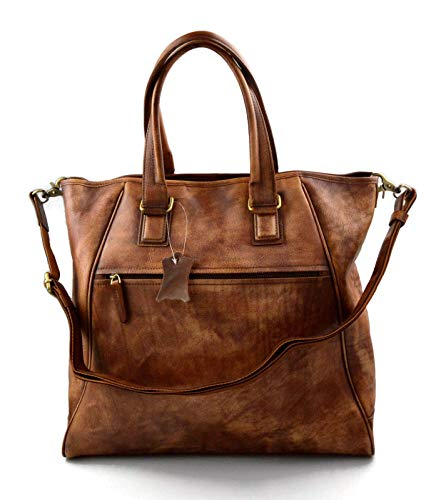 Bolso de cuero bolso de piel de mujer bolso mujer vintage bolso retro bolso de piel shopping bolso shopper bolsa grande mujer bolso tableta marron