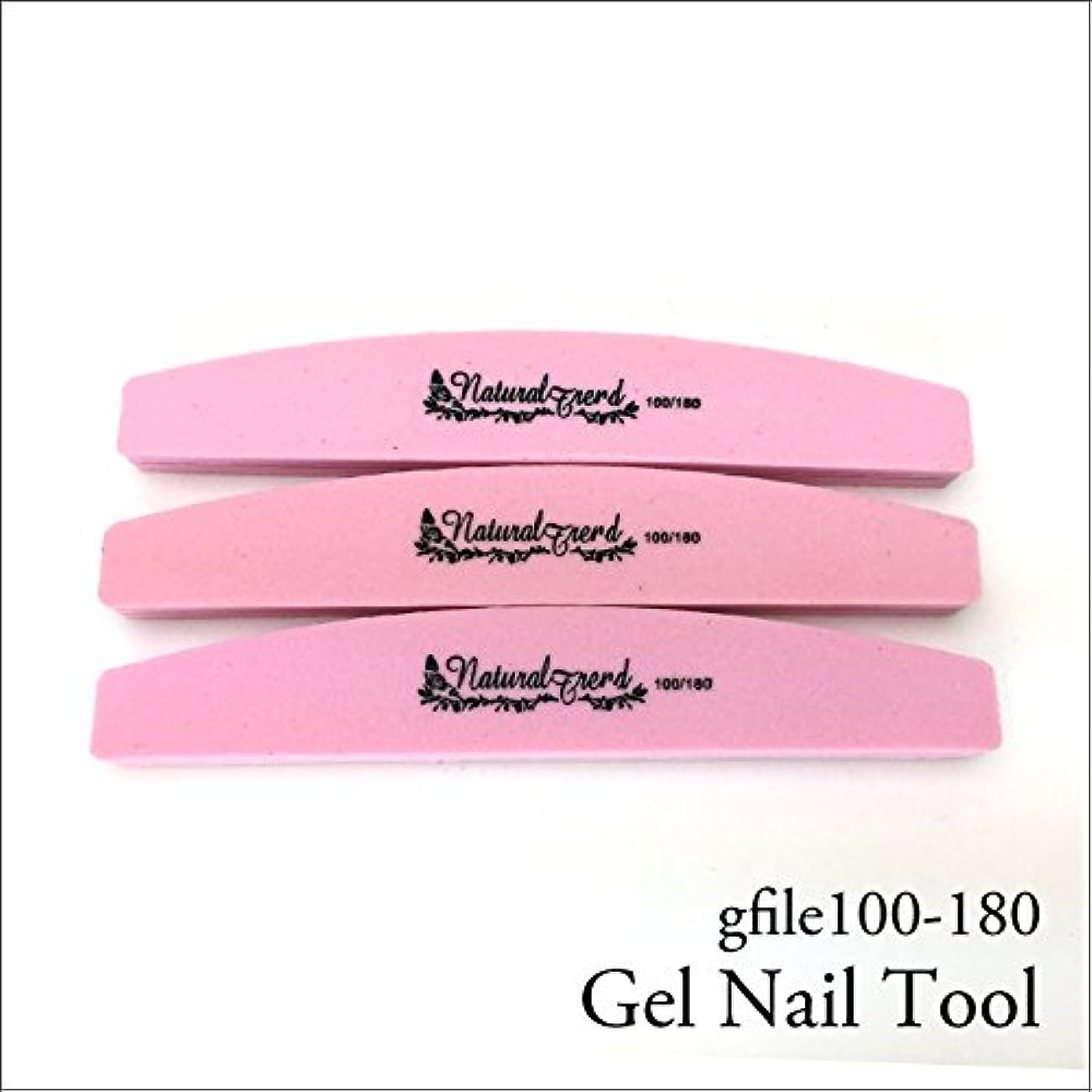 要旨コンプライアンス舌NaturalTrend ジェルネイル 爪やすり バッファー ファイル 100-180 3本セット