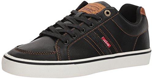 Levi's Men's Turner Nappa Sneaker, Black/tan, 8.5 M US
