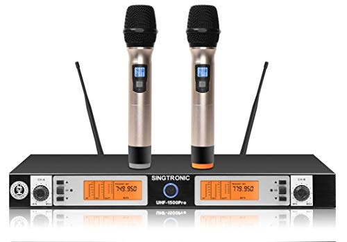 SINGTRONIC UHF-1500Pro Professional UHF Wireless Microphone System Built in Anti-Feedback
