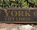 free brand Letrero de madera de New York City Limits WWS000200