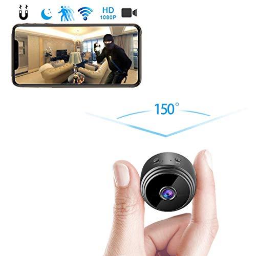 amaes Mini Cámara Espía Oculta 1080P HD WiFi Videocámara Portátil con visión Nocturna por Infrar Rojos Vigilancia Hogar Cámara de Seguridad para iPhone/Android Phone/iPad/PC