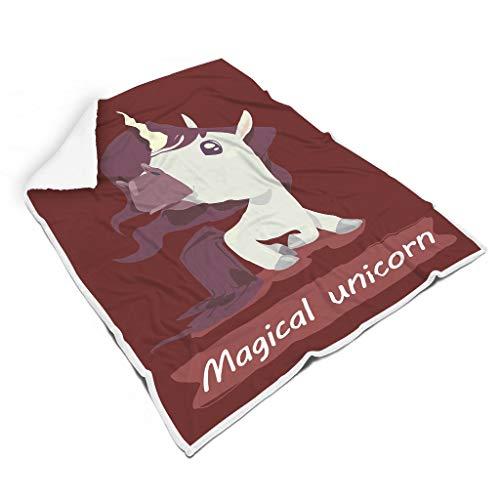 nanjingjin Unicorn atmungsaktiv Bunt Bettdecken für Stuhl Nicht fusseln für Erwachsene Sonnenscheinstil Unicorn White 150x200cm