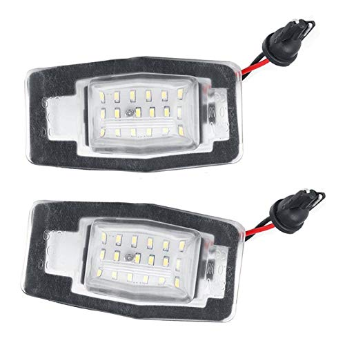 FENGFENG Sun Can 2 unids 18 LED Placa Lámpara de Lámpara Luz Free LED Número de Placa Bulbos Ajuste para Mercury Mariner Fit para Mazda Miata MX-5 MPV Fit para Protege5