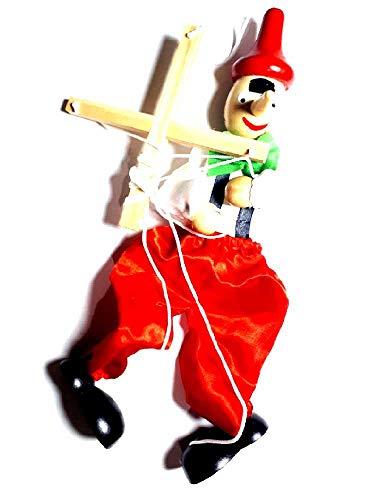 Recibirá 1 marioneta con hilos Altura 36 cm Pinocho Marioneta para teatrino de madera marioneta artesanal marioneta, belén recibe, llavero regalo Mar