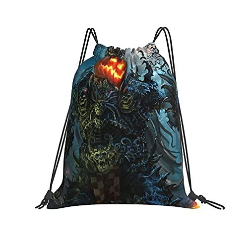 Bolsa de hombro Evil Monster, calabaza, Halloween, King, con cordón, mochila clásica personalizada, bolsa de maquillaje, unisex