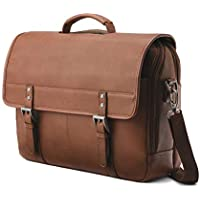 Samsonite Classic Leather Flapover Notebook (Cognac)