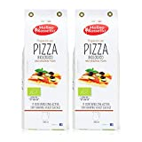 Molino Rossetto Pizza Dough Mix - Organic, Gourmet, Pizza Crust Mix for a Perfect Homemade Pizza - Also Good For Breadsticks, Flatbread, or Calzones 17.6oz (500g) - Pack of 2