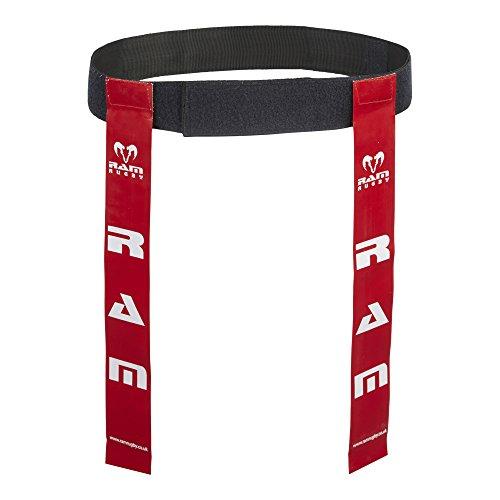 Cinture da rugby ed etichette–Set di 10cinture e 20etichette –disponibile in 6colori–2taglie, Red