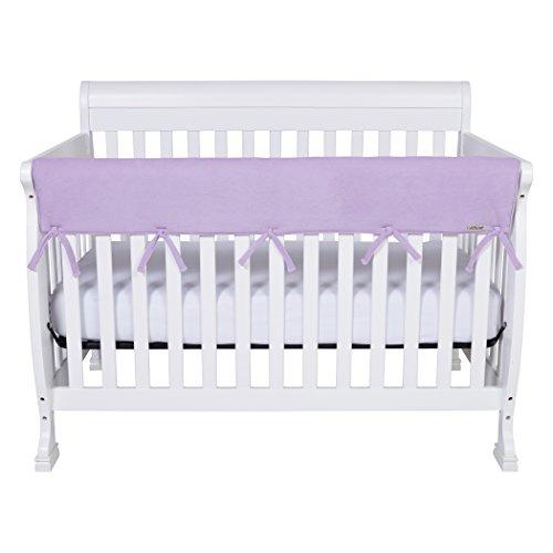 CribWrap Wide 1 Long Lavender Fleece Rail Cover
