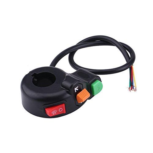 Esenlong 7/ 8In 22Mm Motocicleta Faros Delanteros Bocina Intermitente Interruptor de Luz Manillar Botón de Encendido/Apagado 1 Pieza