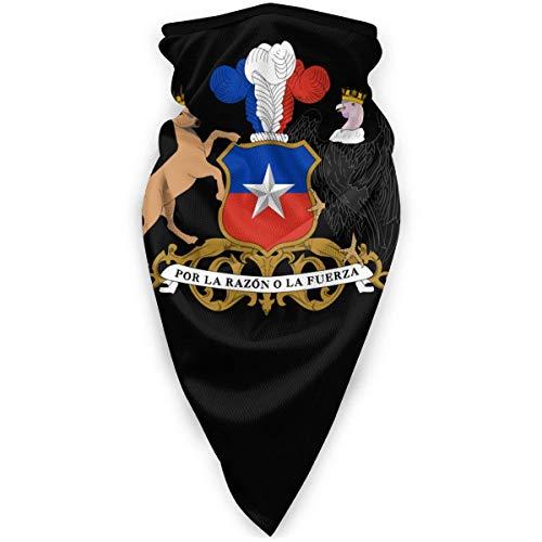 WlQshop emblème National du Chili Cache-Cou Plus Chaud Coupe-Vent Couverture du Visage écharpe Couverture de Sports de Plein air