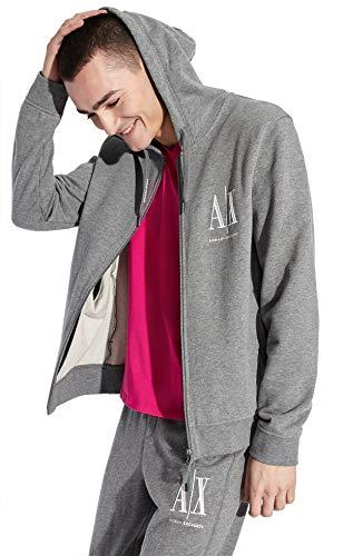 AX Armani Exchange 男款全拉链连帽卫衣