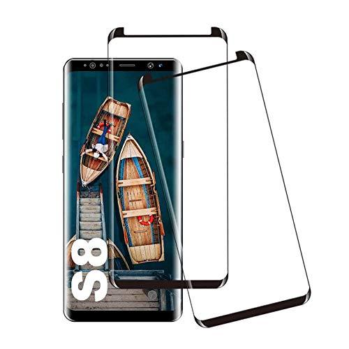 Galaxy S8 ガラスフィルム S8 保護ガラス【2020最新の製造プロセス】Samsung Galaxy S8 SCV36 SC-02J フィルム 専用 強化ガラスフィルム 【日本製素材旭硝子製】業界最高硬度9H/高透過率99.9%/3D Touch