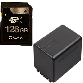 Synergy Digital Accessory Kit Compatible with Panasonic HC-W580K Full HD Camcorder includes  SY-SD128GB Memory Card ACD790 Battery