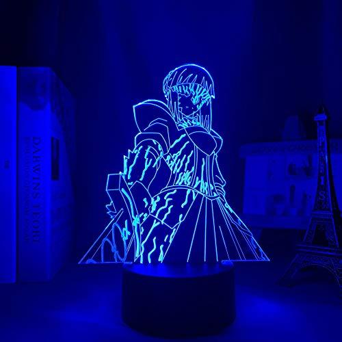 3D anime noche luz destino estancia noche sable lámpara LED para decoración de dormitorio regalo de cumpleaños manga destino estancia noche sable lámpara -7 colores, control táctil