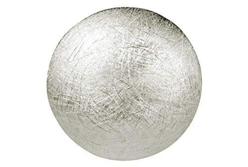 SILBERMOOS Damen Anhänger Knopf Kugel Kreis Scheibe rund gebürstet 925 Sterling Silber