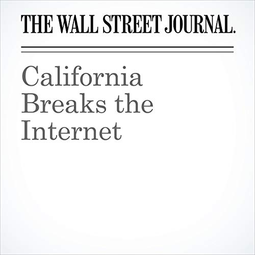 California Breaks the Internet copertina
