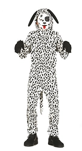 Guirca - Disfraz de perro dálmata, talla 7-9 años, color blanco (83246)