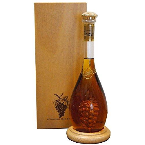 Marc de Champagne Goldstar im Holzkarton und Glasbläserflasche 0,5 l