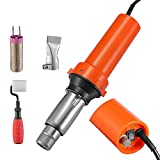 TELAM Soldadora de plástico de Mano 2000W, Pistola de Aire Caliente para Soldador de plástico boquillas de Velocidad Nivel 0-680 ° C 14m³ / H Soldador de cloruro de polivinilo de Polietileno (2000w)