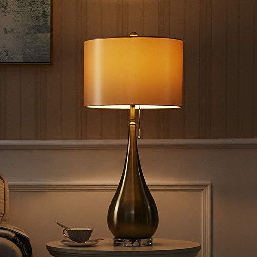 Lámpara Escritorio Lámpara de lámpara de hierro forjado moderna y simple lámpara de noche de aprendizaje personalizada de lujo dormitorio lámpara de noche pantalla soporte de flores sala de estar mode
