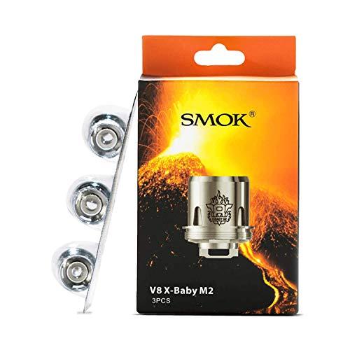 SMOK V8 X-Baby M2 TFV8 Bobinas de repuesto 0,25 ohmios (30 a 50 W) (3 x bobinas (paquete completo))