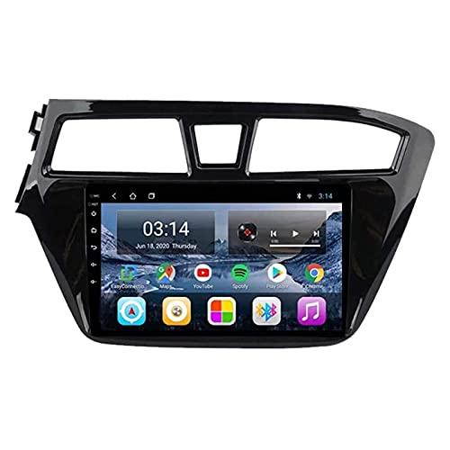 Navegación para coche, estéreo, 9 pulgadas, 2.5D, pantalla táctil HD, para Hyundai I20 2015-2018, FM/Bluetooth/control del volante/espejo retrovisor/cámara trasera